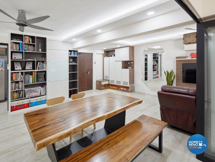 Scandinavian Design - Dining Room - HDB Executive Apartment - Design by Absolook Interior Design Pte Ltd
