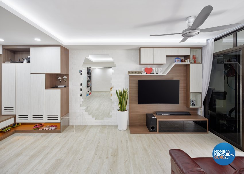 Scandinavian Design - Living Room - HDB Executive Apartment - Design by Absolook Interior Design Pte Ltd