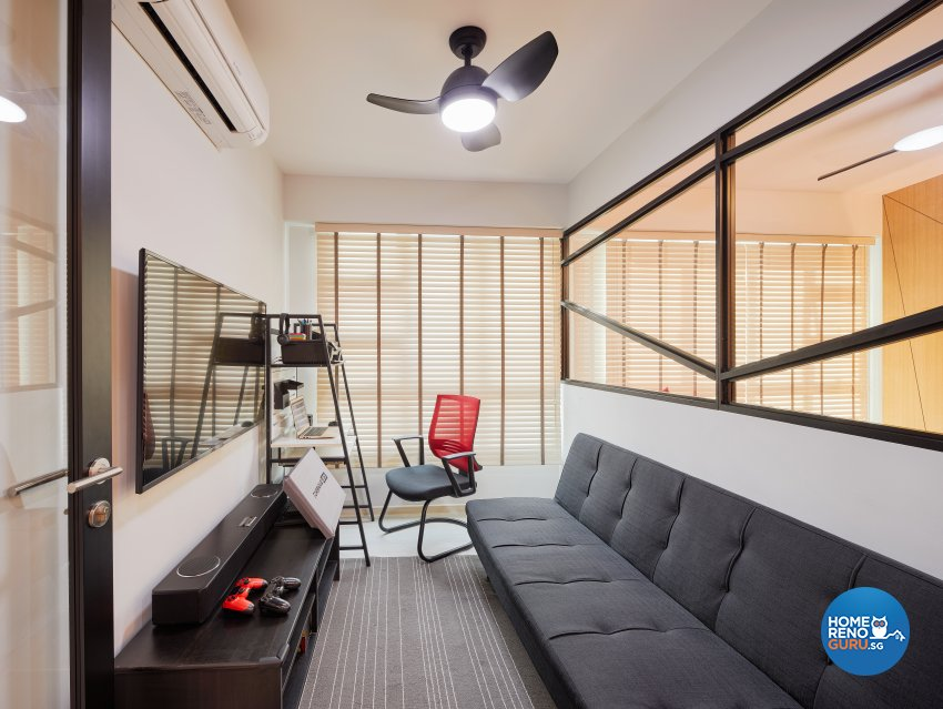 Contemporary, Scandinavian Design - Entertainment Room - HDB 5 Room - Design by Absolook Interior Design Pte Ltd