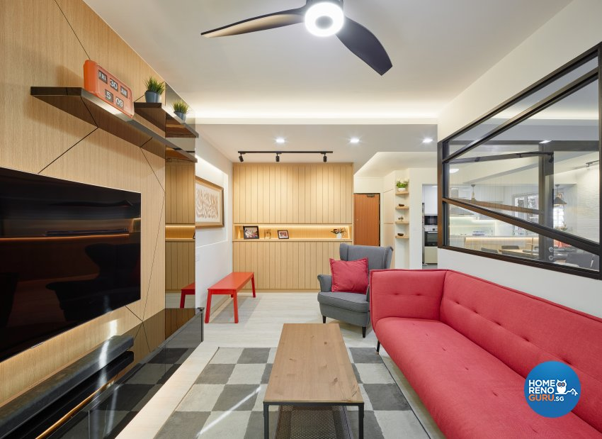Contemporary, Scandinavian Design - Living Room - HDB 5 Room - Design by Absolook Interior Design Pte Ltd