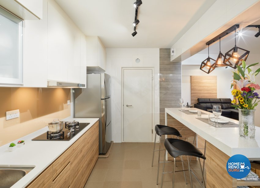Industrial, Scandinavian Design - Kitchen - HDB 4 Room - Design by Absolook Interior Design Pte Ltd