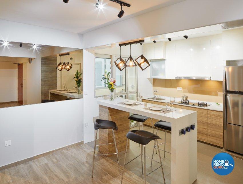 Industrial, Scandinavian Design - Dining Room - HDB 4 Room - Design by Absolook Interior Design Pte Ltd