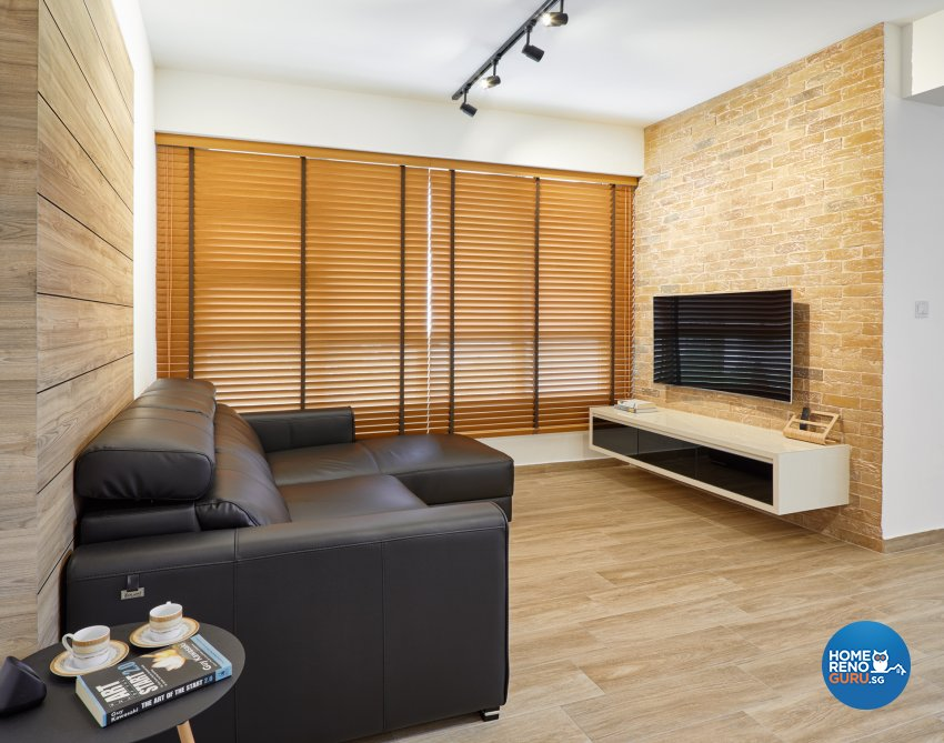 Industrial, Scandinavian Design - Living Room - HDB 4 Room - Design by Absolook Interior Design Pte Ltd
