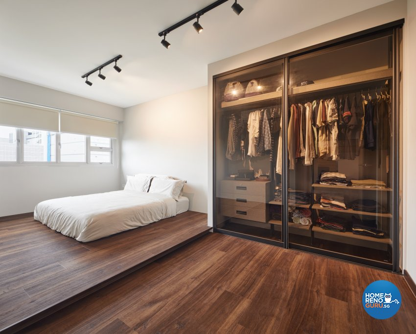 Industrial, Scandinavian Design - Bedroom - HDB 4 Room - Design by Absolook Interior Design Pte Ltd