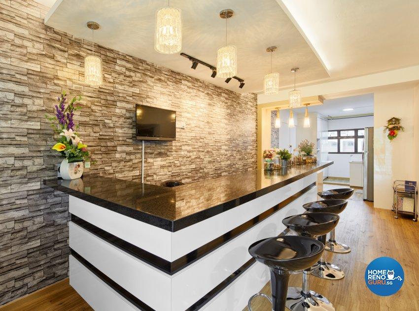 Contemporary Design - Living Room - HDB 3 Room - Design by Absolook Interior Design Pte Ltd
