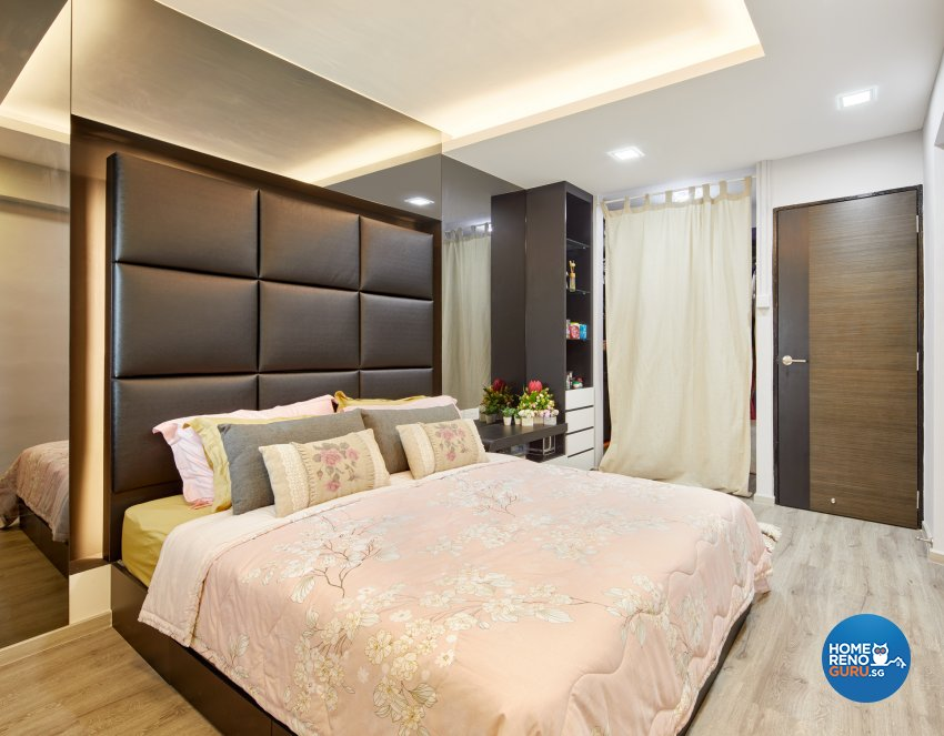 Contemporary Design - Bedroom - HDB 3 Room - Design by Absolook Interior Design Pte Ltd