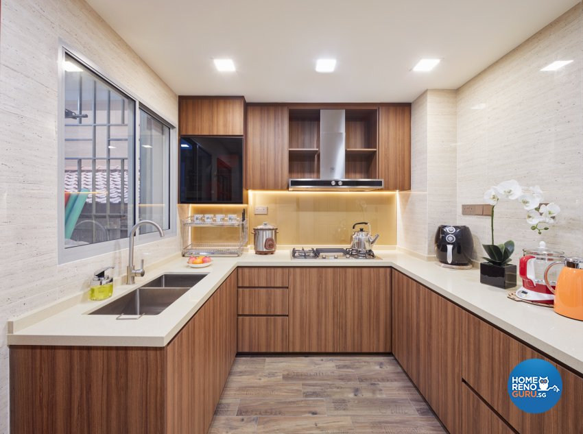 Modern, Victorian Design - Kitchen - Condominium - Design by Absolook Interior Design Pte Ltd