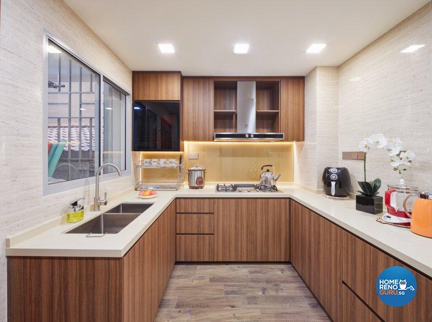 Modern, Victorian Design - Kitchen - Condominium - Design by Absolook Interior Design Pte Ltd