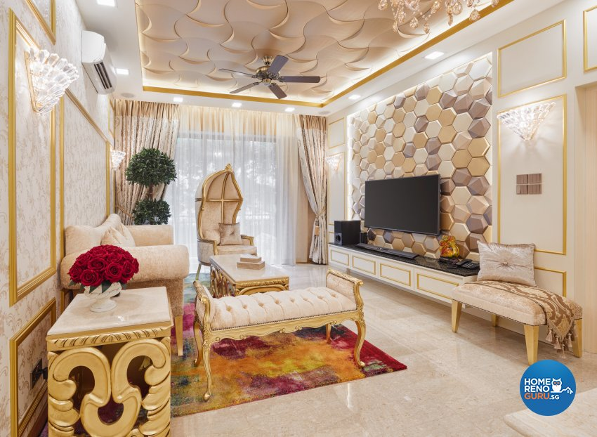 Modern, Victorian Design - Living Room - Condominium - Design by Absolook Interior Design Pte Ltd