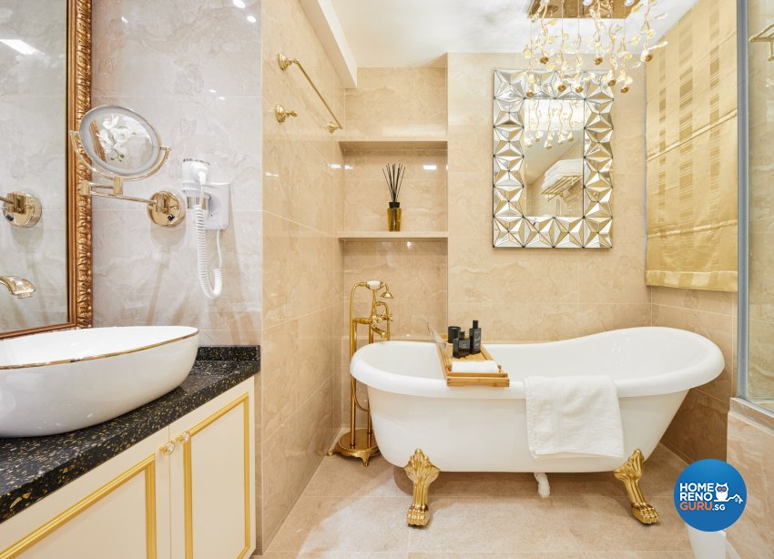 Modern, Victorian Design - Bathroom - Condominium - Design by Absolook Interior Design Pte Ltd