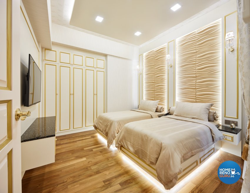 Modern, Victorian Design - Bedroom - Condominium - Design by Absolook Interior Design Pte Ltd