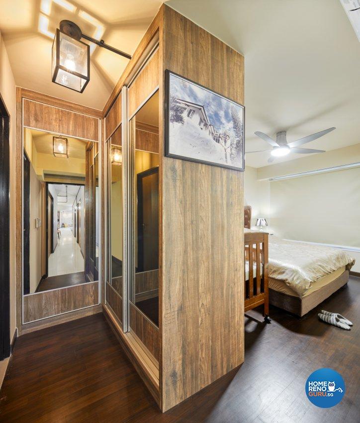 Industrial, Modern Design - Bedroom - HDB 5 Room - Design by Absolook Interior Design Pte Ltd