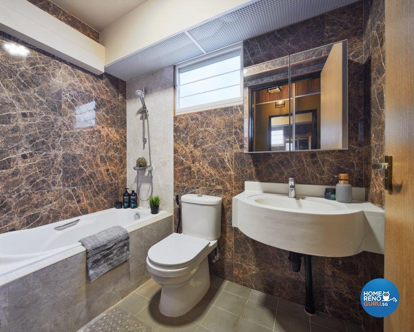 Industrial, Modern Design - Bathroom - HDB 5 Room - Design by Absolook Interior Design Pte Ltd