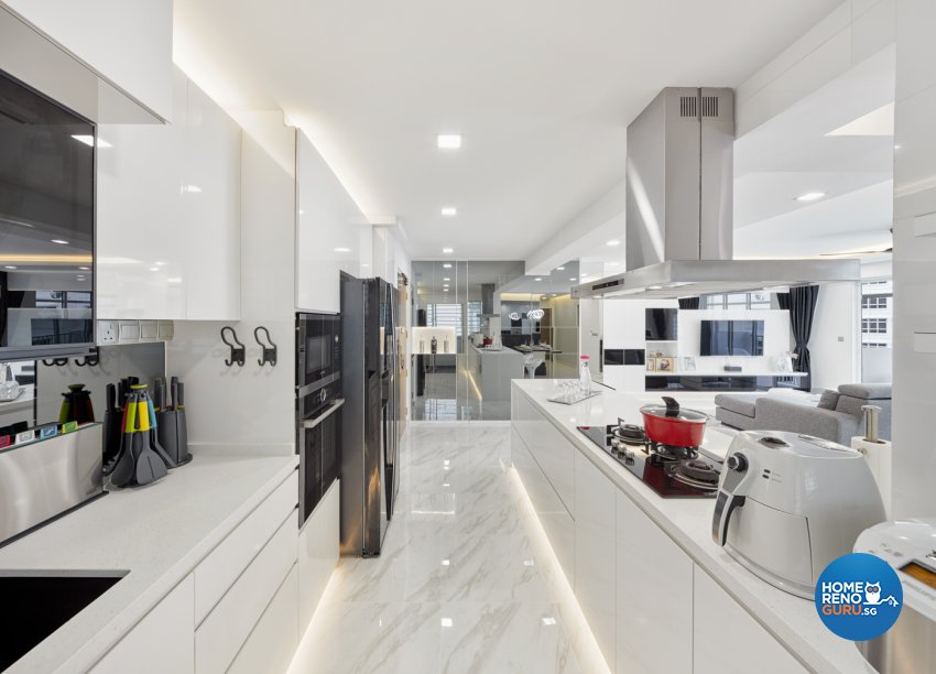 Minimalist, Modern Design - Kitchen - HDB 5 Room - Design by Absolook Interior Design Pte Ltd