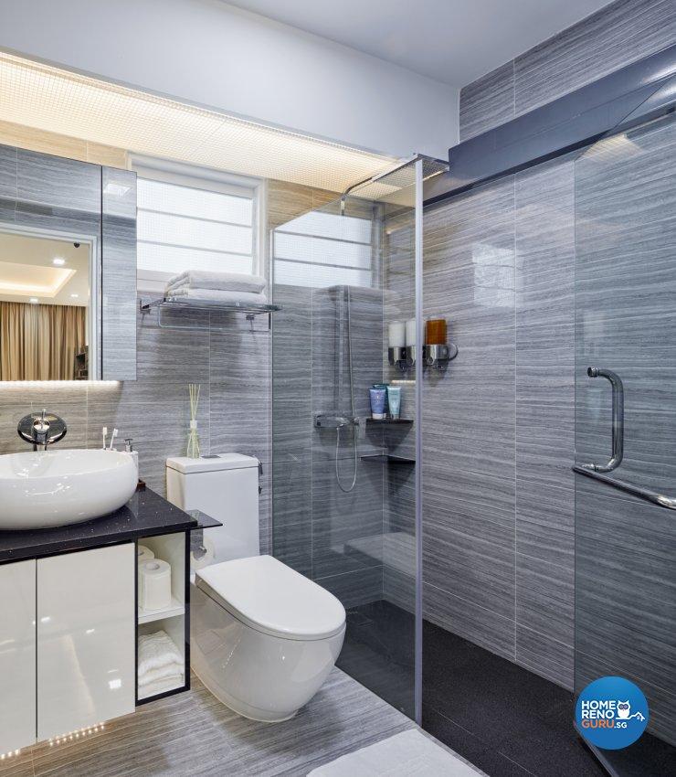 Minimalist, Modern Design - Bathroom - HDB 5 Room - Design by Absolook Interior Design Pte Ltd
