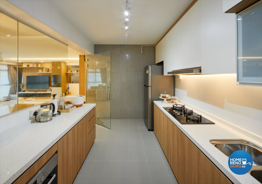 Scandinavian Design - Kitchen - HDB 5 Room - Design by Absolook Interior Design Pte Ltd