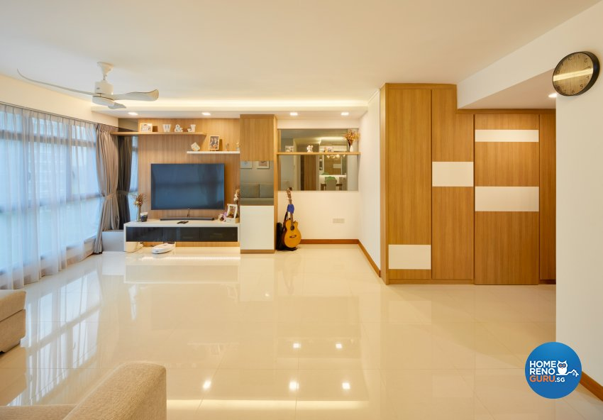 Scandinavian Design - Living Room - HDB 5 Room - Design by Absolook Interior Design Pte Ltd