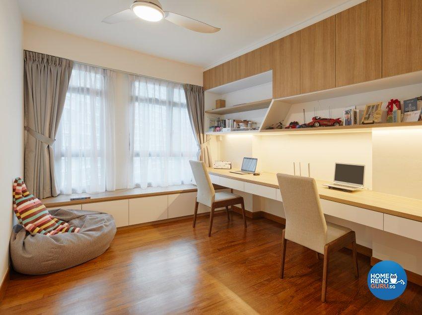 Scandinavian Design - Study Room - HDB 5 Room - Design by Absolook Interior Design Pte Ltd