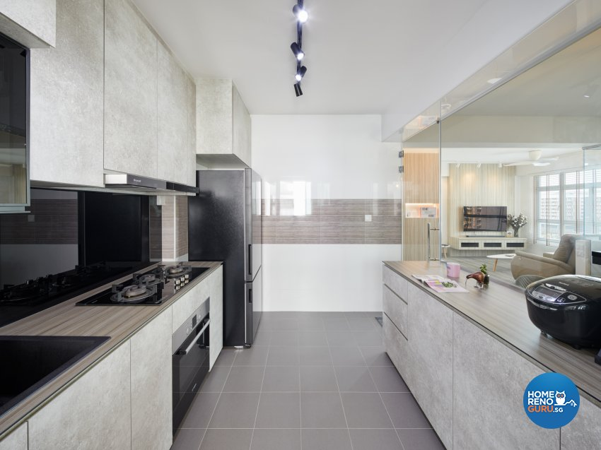 Scandinavian Design - Kitchen - HDB 4 Room - Design by Absolook Interior Design Pte Ltd