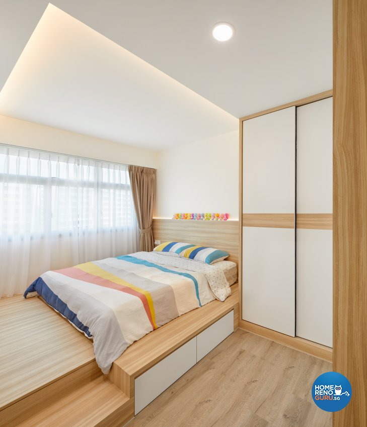 Scandinavian Design - Bedroom - HDB 4 Room - Design by Absolook Interior Design Pte Ltd