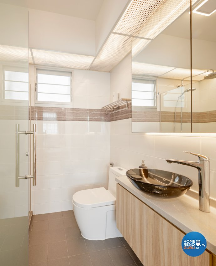 Scandinavian Design - Bathroom - HDB 4 Room - Design by Absolook Interior Design Pte Ltd