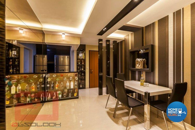 Contemporary, Modern Design - Dining Room - HDB 4 Room - Design by Absolook Interior Design Pte Ltd