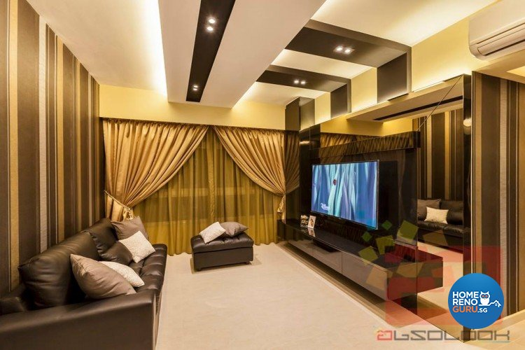 Contemporary, Modern Design - Living Room - HDB 4 Room - Design by Absolook Interior Design Pte Ltd