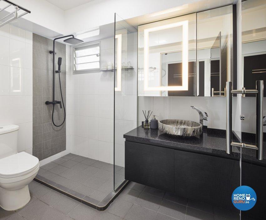 Modern Design - Bathroom - HDB 5 Room - Design by Absolook Interior Design Pte Ltd