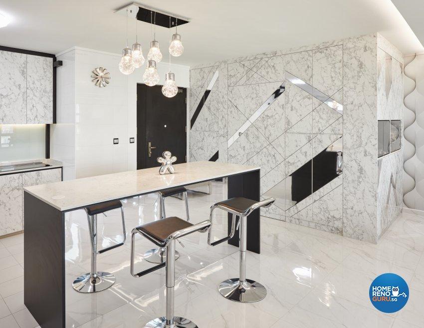 Modern Design - Dining Room - HDB 5 Room - Design by Absolook Interior Design Pte Ltd
