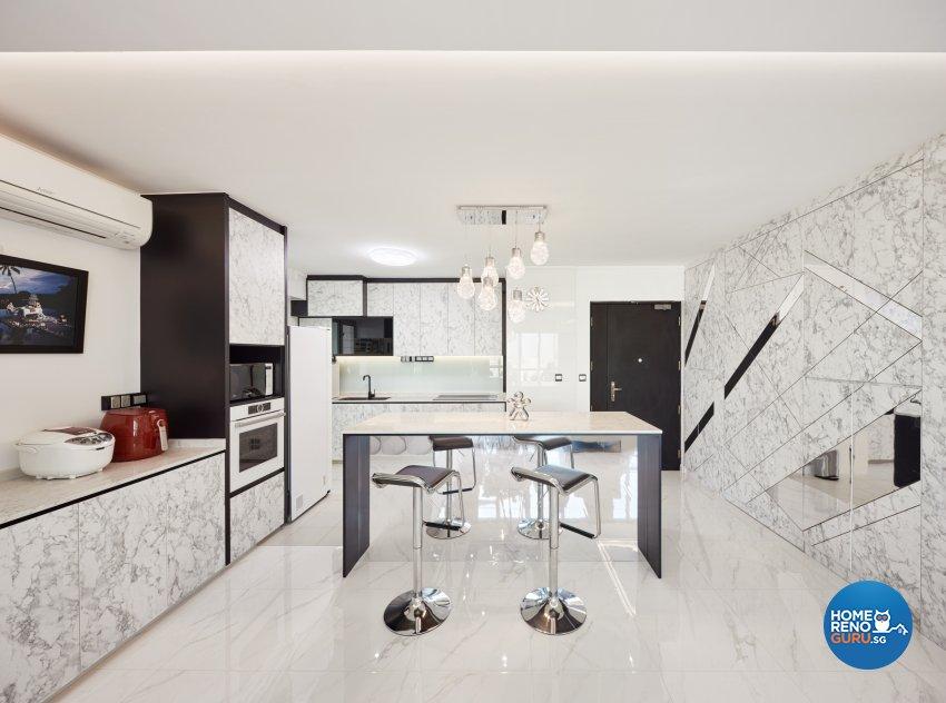 Modern Design - Kitchen - HDB 5 Room - Design by Absolook Interior Design Pte Ltd