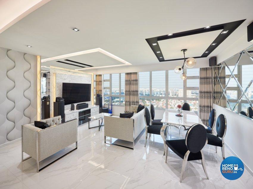 Modern Design - Living Room - HDB 5 Room - Design by Absolook Interior Design Pte Ltd
