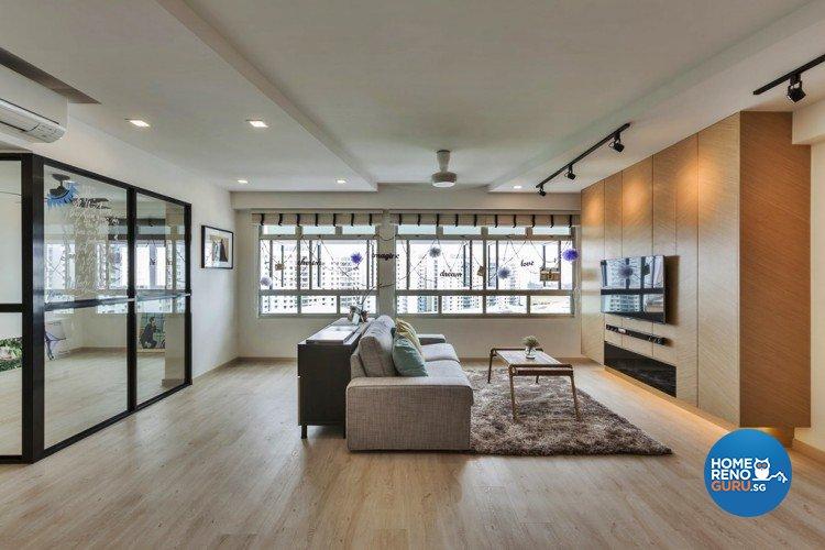 Contemporary, Minimalist, Scandinavian Design - Living Room - HDB 5 Room - Design by Absolook Interior Design Pte Ltd