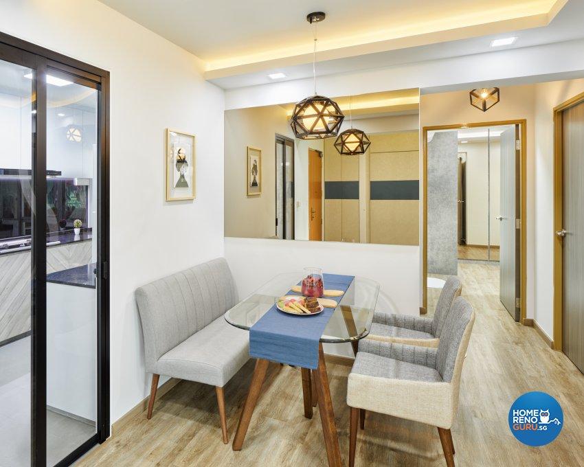 Contemporary, Scandinavian Design - Dining Room - HDB 4 Room - Design by Absolook Interior Design Pte Ltd