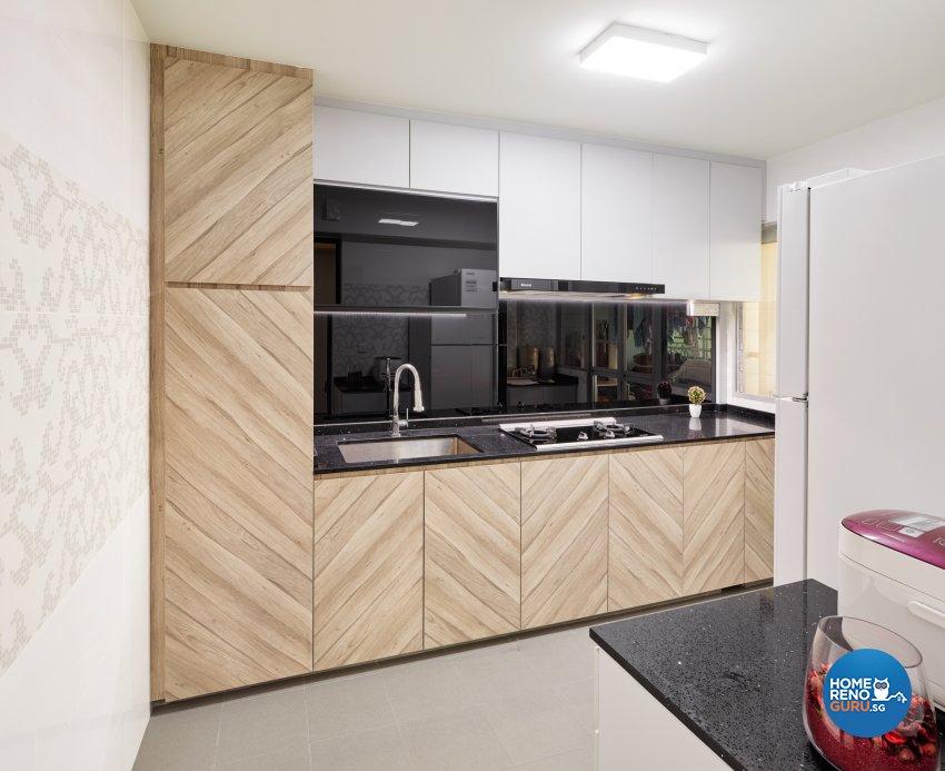 Contemporary, Scandinavian Design - Kitchen - HDB 4 Room - Design by Absolook Interior Design Pte Ltd