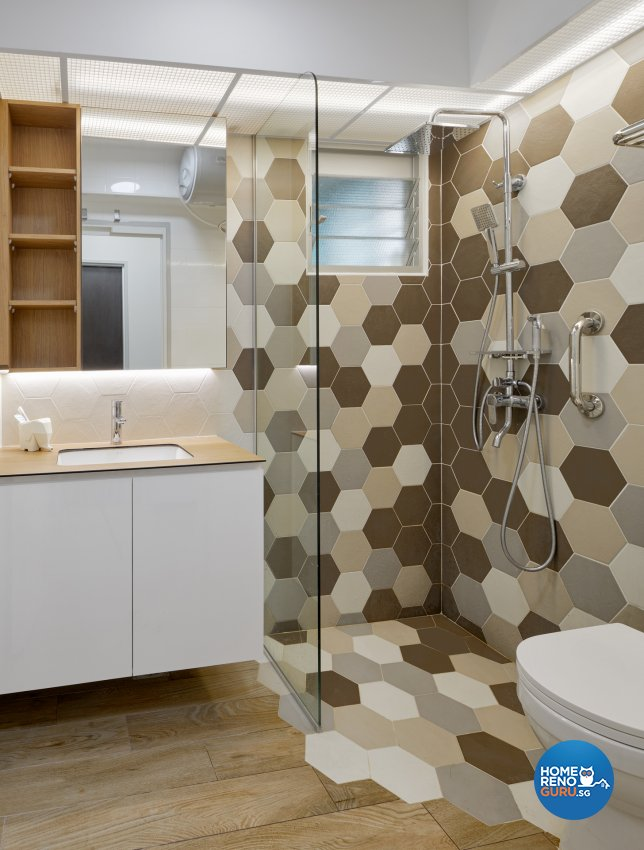 Contemporary Design - Bathroom - HDB 4 Room - Design by Absolook Interior Design Pte Ltd