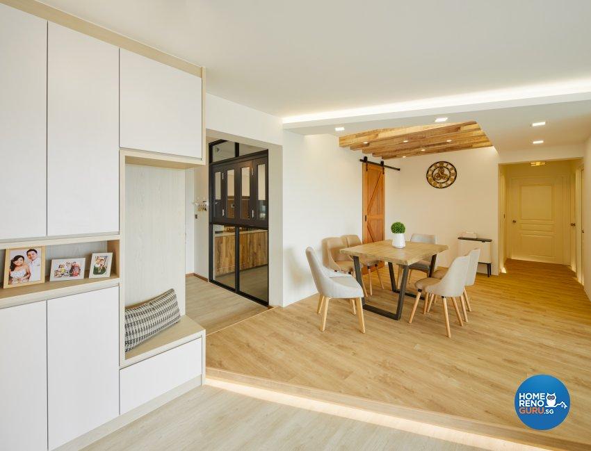 Scandinavian Design - Dining Room - HDB 5 Room - Design by Absolook Interior Design Pte Ltd