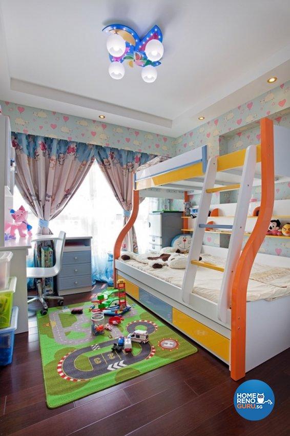 Eclectic, Modern Design - Bedroom - HDB 4 Room - Design by Absolook Interior Design Pte Ltd