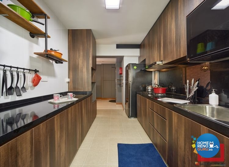 Industrial, Resort, Scandinavian Design - Kitchen - HDB 4 Room - Design by Absolook Interior Design Pte Ltd