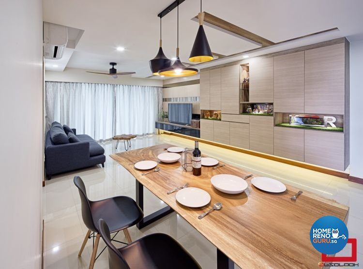 Minimalist, Modern Design - Dining Room - HDB 5 Room - Design by Absolook Interior Design Pte Ltd