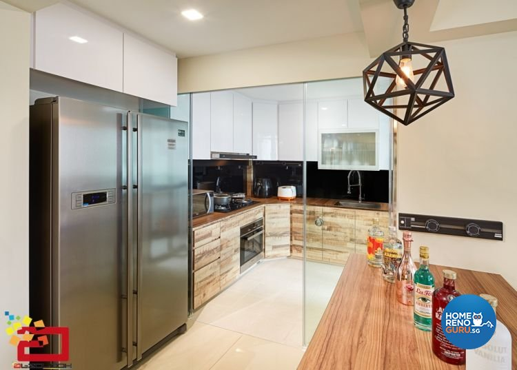 Minimalist, Modern Design - Kitchen - HDB 5 Room - Design by Absolook Interior Design Pte Ltd
