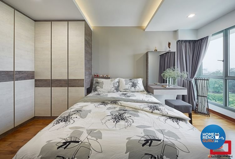 Minimalist, Modern Design - Bedroom - HDB 5 Room - Design by Absolook Interior Design Pte Ltd