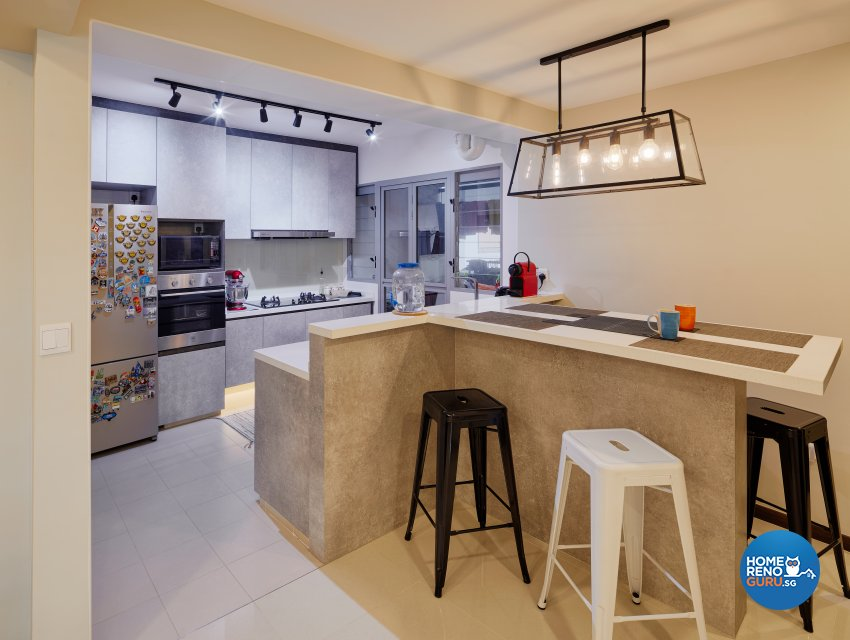 Modern, Resort Design - Kitchen - HDB 4 Room - Design by Absolook Interior Design Pte Ltd