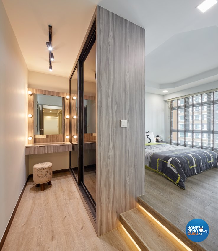 Modern, Resort Design - Bedroom - HDB 4 Room - Design by Absolook Interior Design Pte Ltd