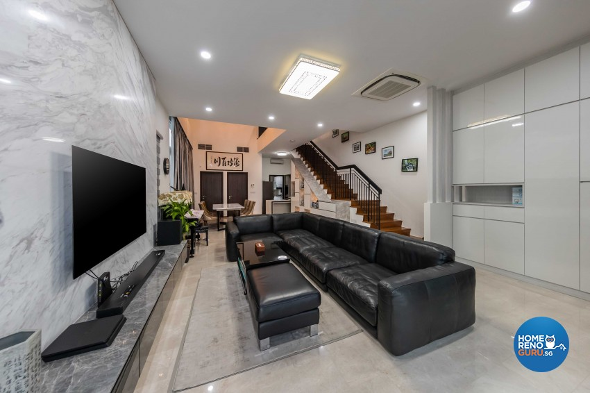 Classical Design - Living Room - Landed House - Design by Absolook Interior Design Pte Ltd