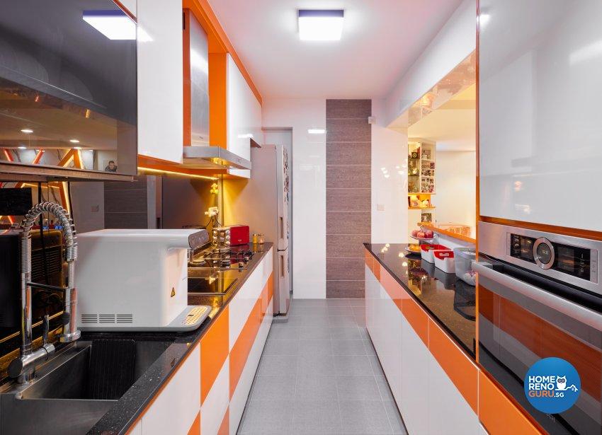 Contemporary Design - Kitchen - HDB 5 Room - Design by Absolook Interior Design Pte Ltd