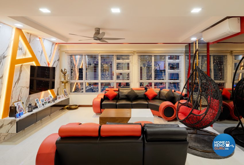 Contemporary Design - Living Room - HDB 5 Room - Design by Absolook Interior Design Pte Ltd