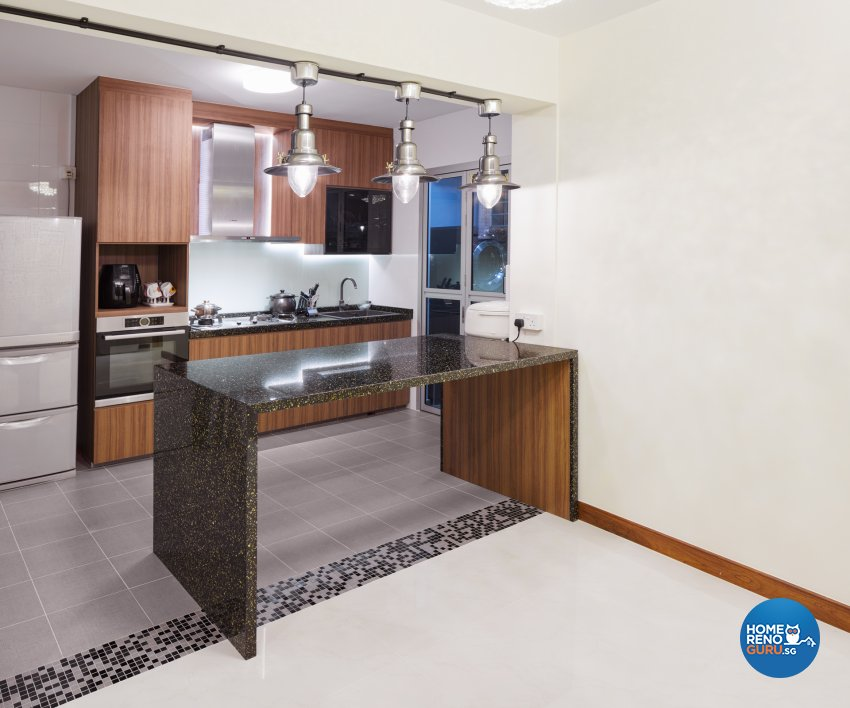 Contemporary Design - Kitchen - HDB 4 Room - Design by Absolook Interior Design Pte Ltd