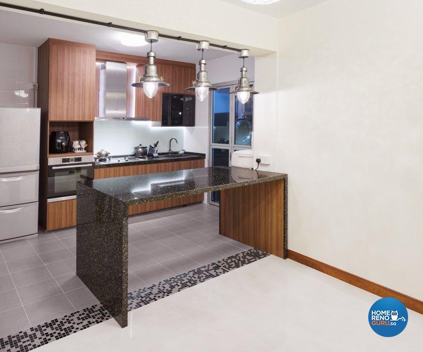 Contemporary Design - Kitchen - HDB 4 Room - Design by Absolook Interior Design Pte Ltd