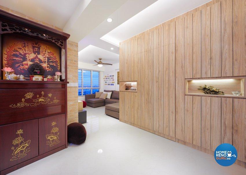 Contemporary Design - Living Room - HDB 4 Room - Design by Absolook Interior Design Pte Ltd
