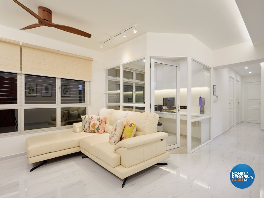Modern Design - Living Room - HDB 5 Room - Design by Absolook Interior Design Pte Ltd